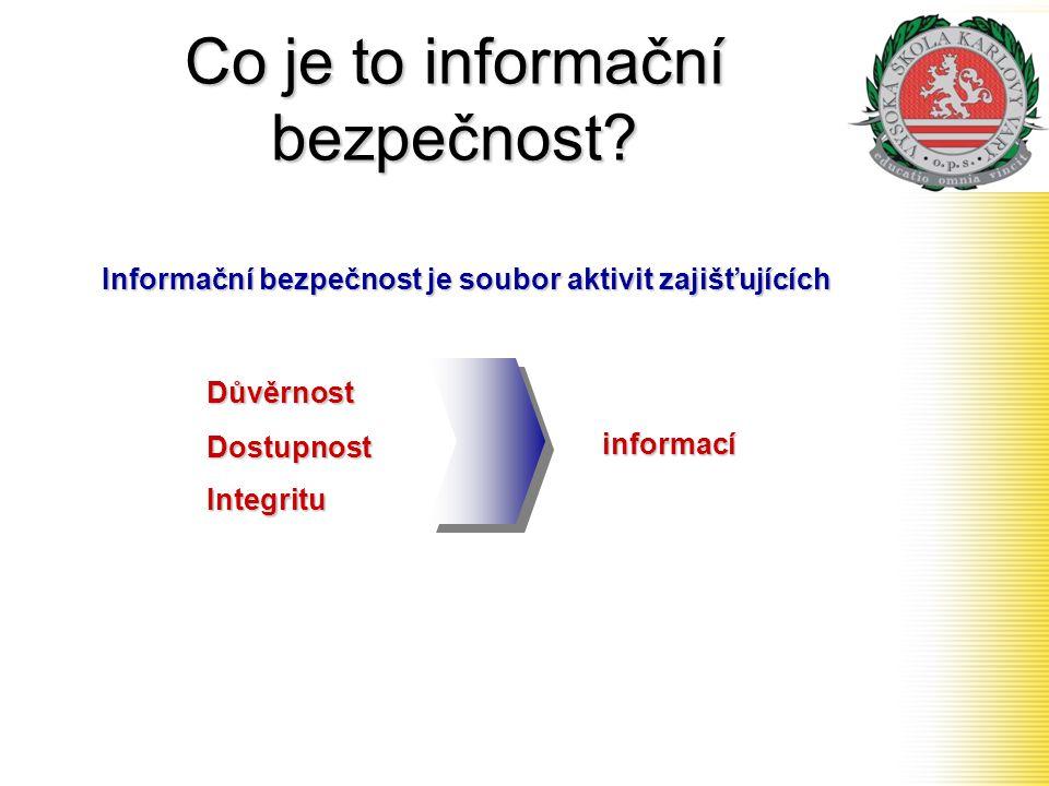 Co je to informační bezpečnost