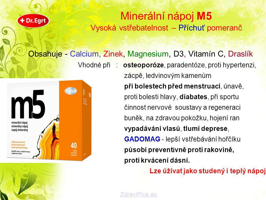 Minerální nápoj M5 Vysoká vstřebatelnost – Příchuť pomeranč