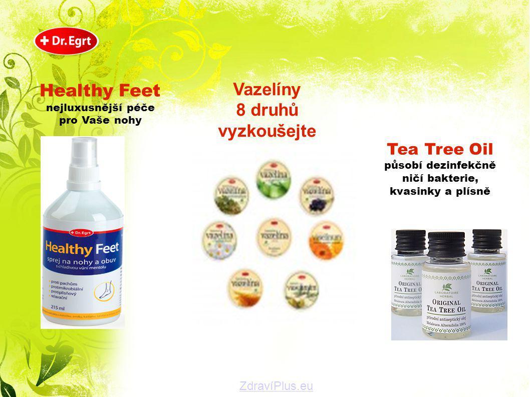 Healthy Feet nejluxusnější péče Tea Tree Oil působí dezinfekčně