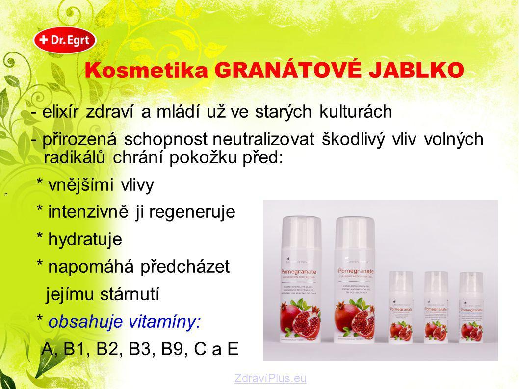 Kosmetika GRANÁTOVÉ JABLKO