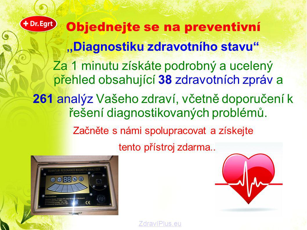Objednejte se na preventivní ,,Diagnostiku zdravotního stavu