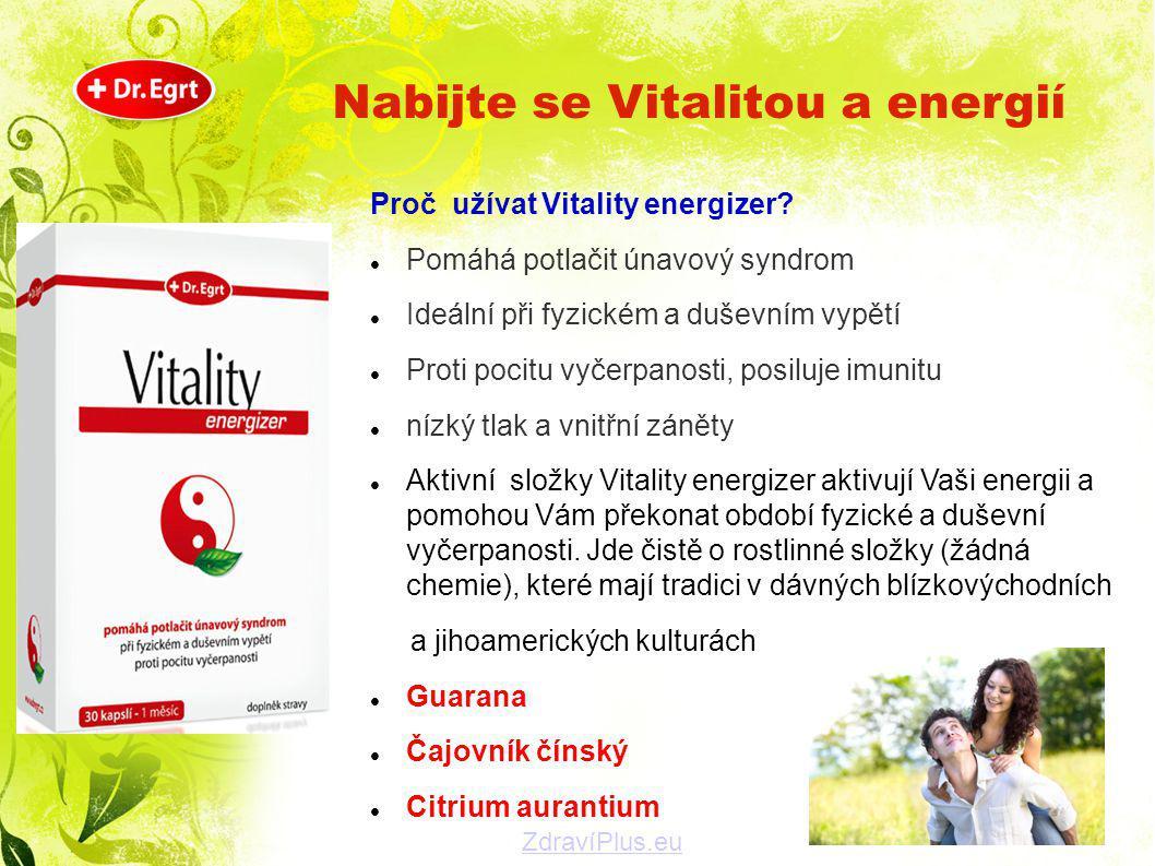 Nabijte se Vitalitou a energií