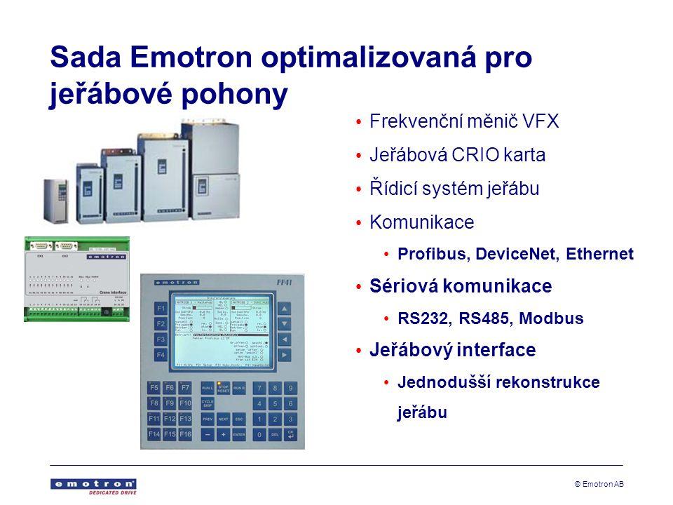 Sada Emotron optimalizovaná pro jeřábové pohony