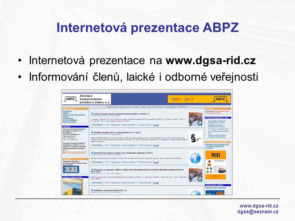 Internetová prezentace ABPZ