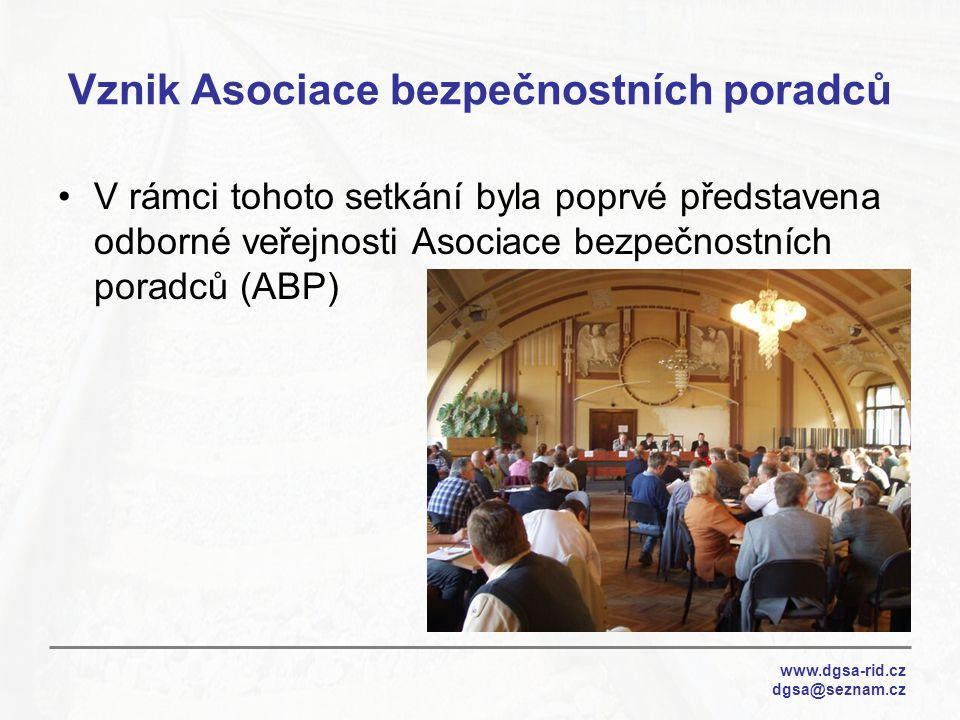 Vznik Asociace bezpečnostních poradců