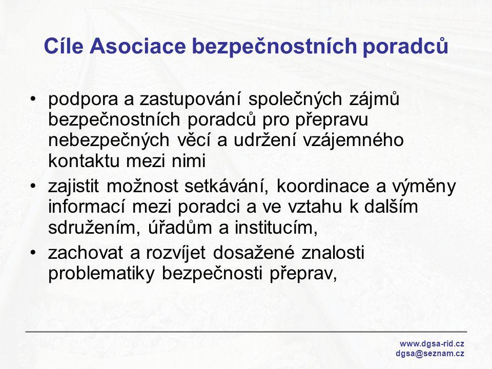 Cíle Asociace bezpečnostních poradců