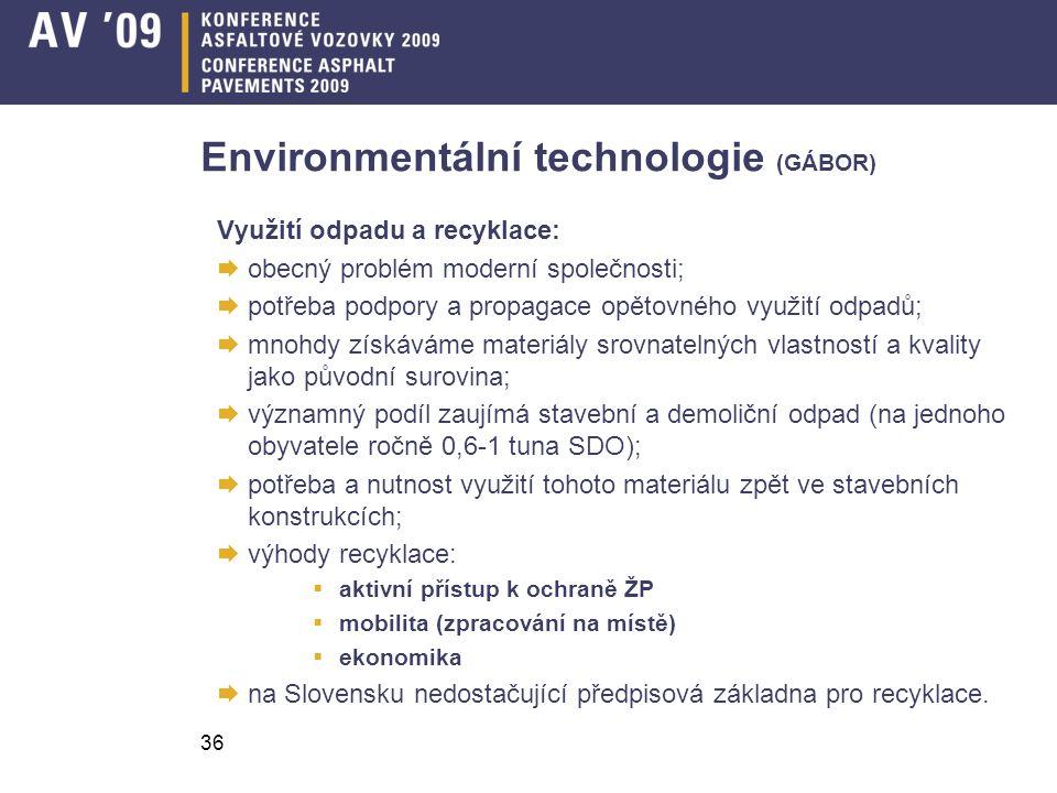 Environmentální technologie (GÁBOR)
