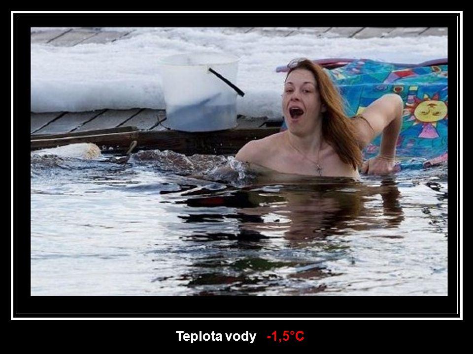 Teplota vody -1,5°C