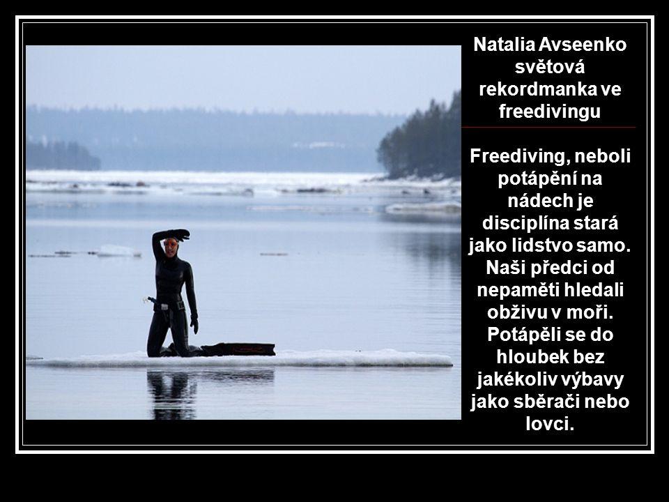Natalia Avseenko světová rekordmanka ve freedivingu