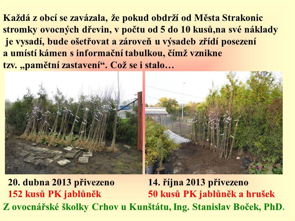 Každá z obcí se zavázala, že pokud obdrží od Města Strakonic