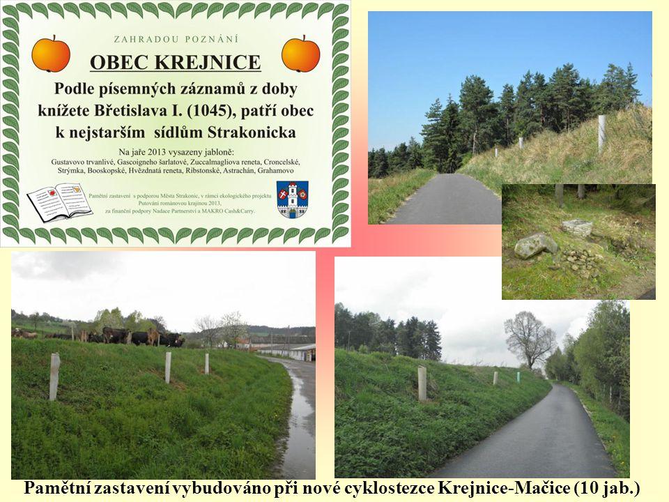 Pamětní zastavení vybudováno při nové cyklostezce Krejnice-Mačice (10 jab.)