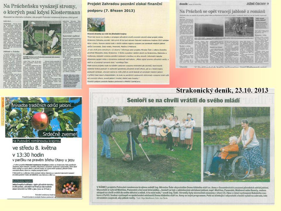 Strakonický deník, 23.10. 2013