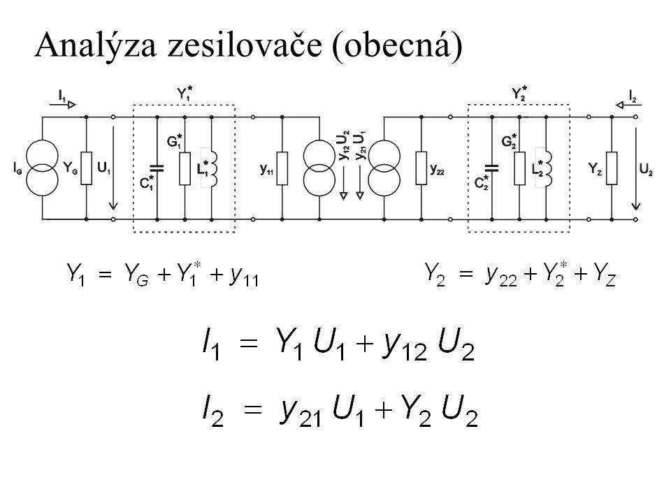 Analýza zesilovače (obecná)