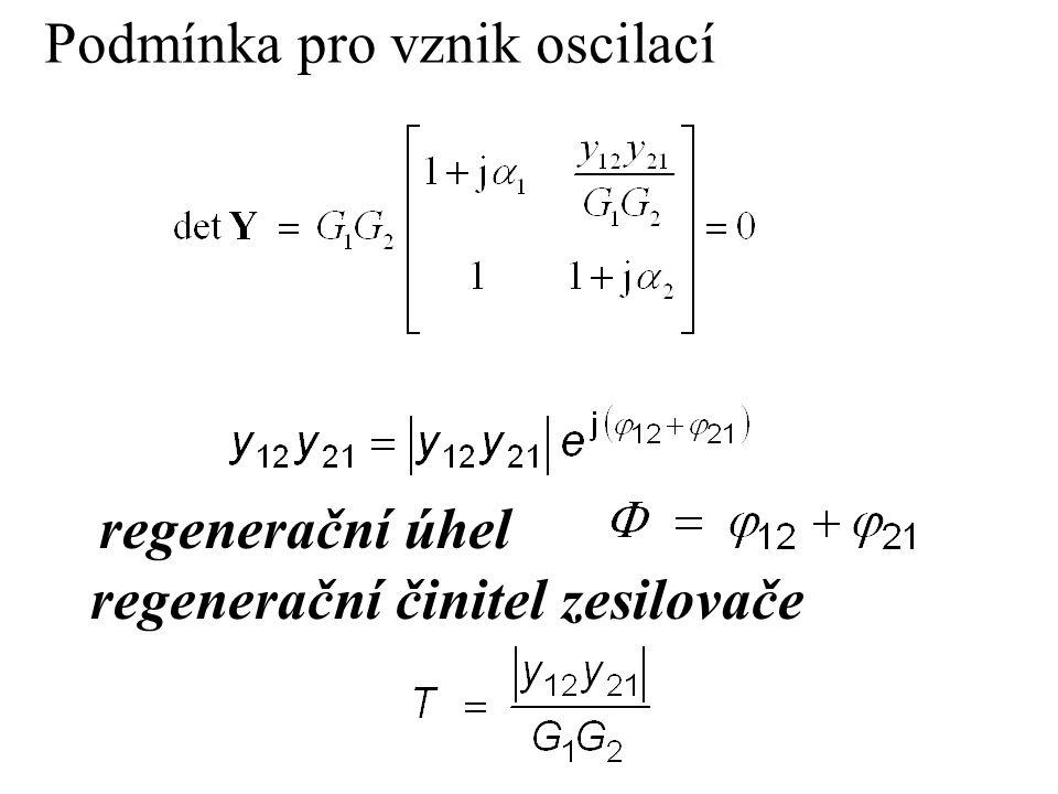 Podmínka pro vznik oscilací