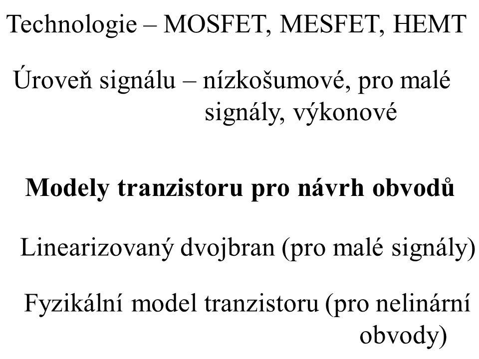 Technologie – MOSFET, MESFET, HEMT