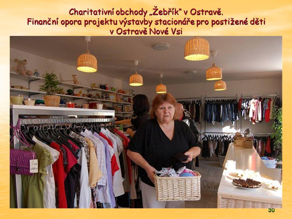 """Charitativní obchody """"Žebřík v Ostravě"""