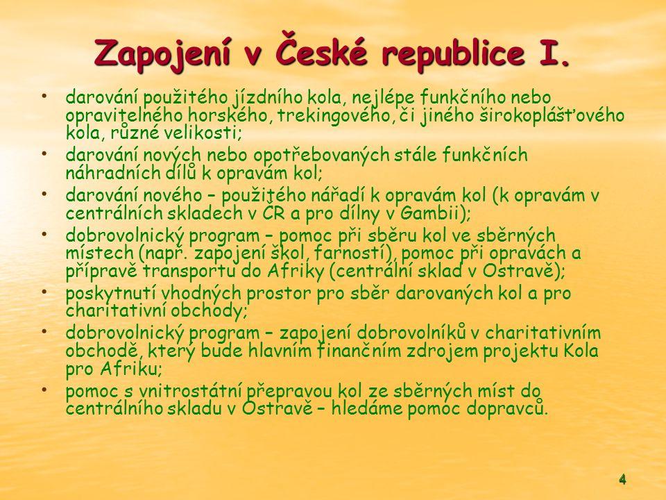 Zapojení v České republice I.