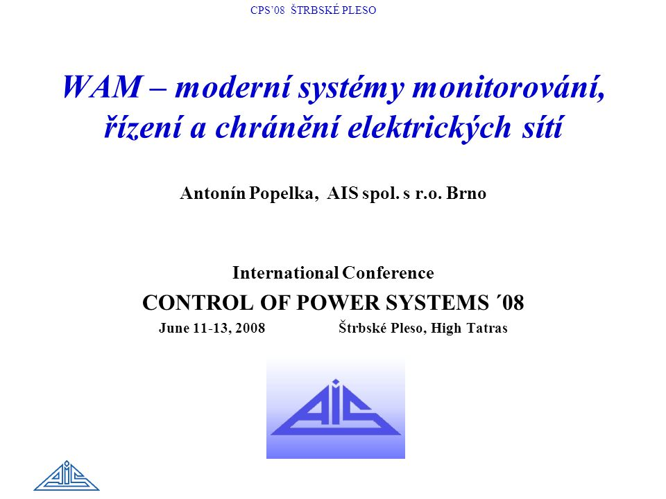 WAM – moderní systémy monitorování, řízení a chránění elektrických sítí