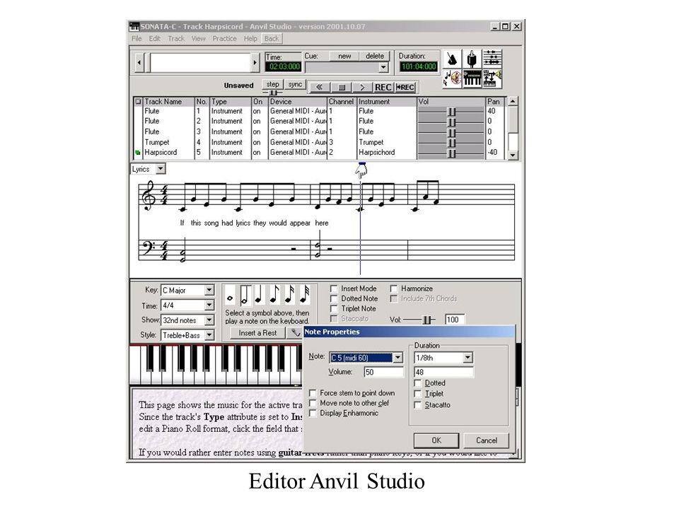 Editor Anvil Studio