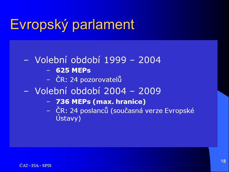 Evropský parlament Volební období 1999 – 2004