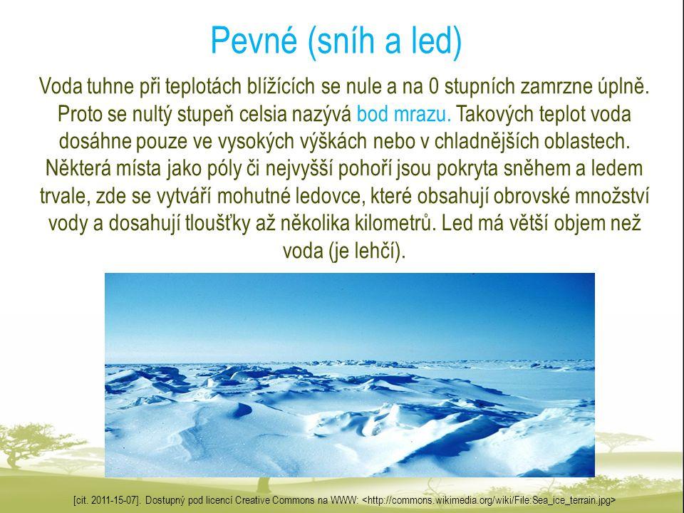 Pevné (sníh a led)