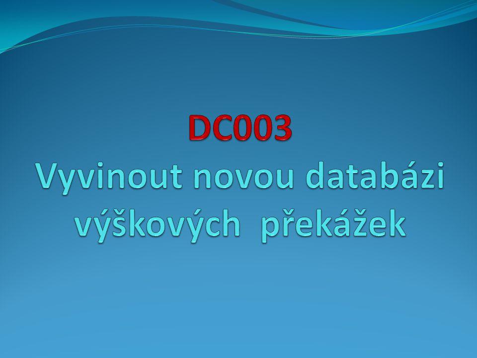 DC003 Vyvinout novou databázi výškových překážek