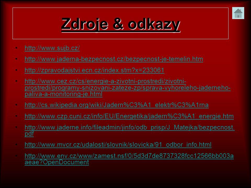 Zdroje & odkazy http://www.sujb.cz/