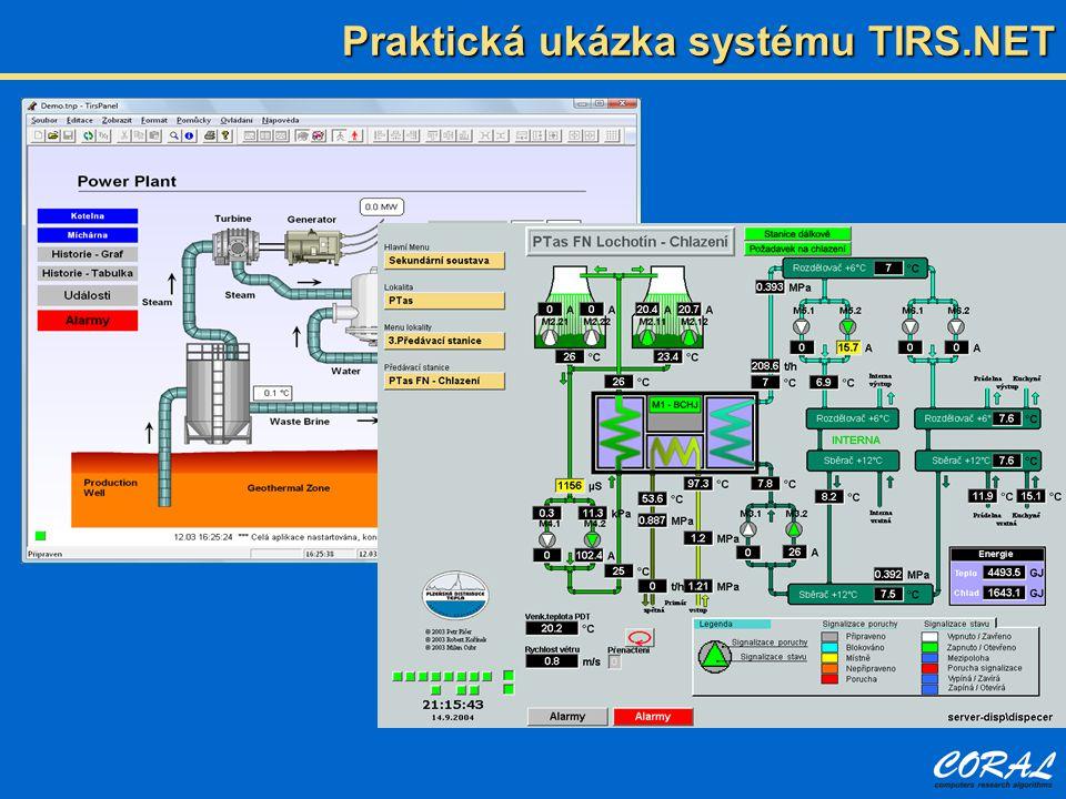 Praktická ukázka systému TIRS.NET