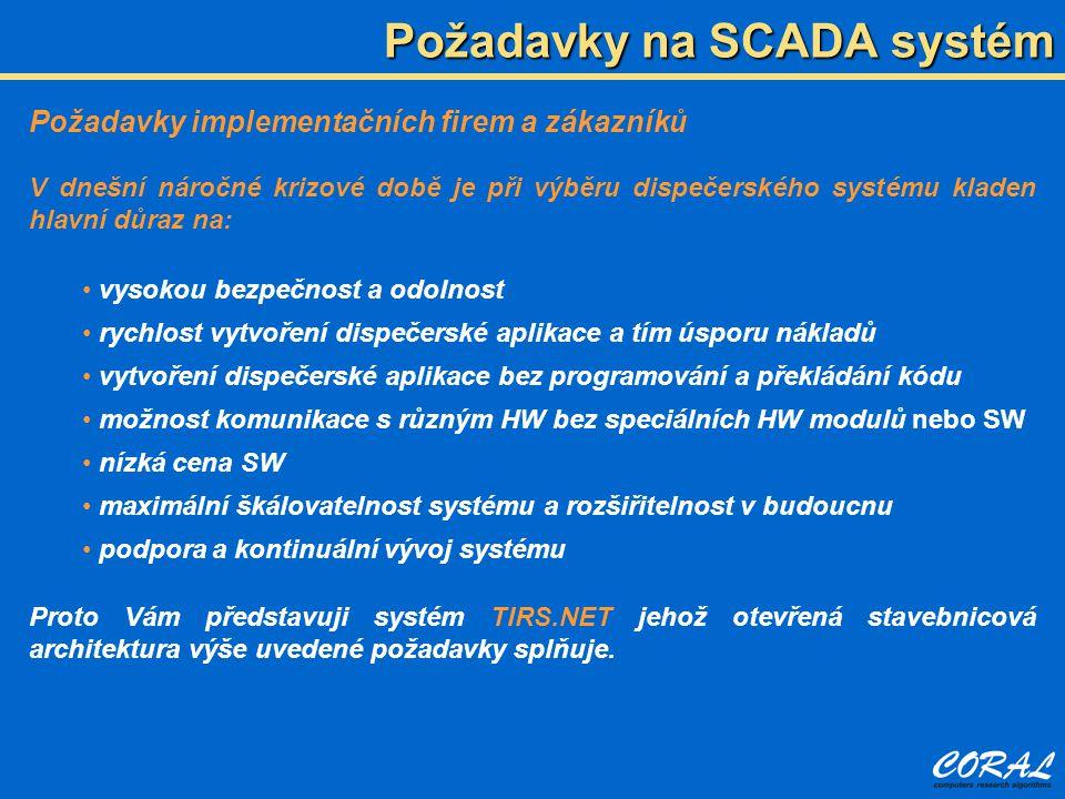 Požadavky na SCADA systém