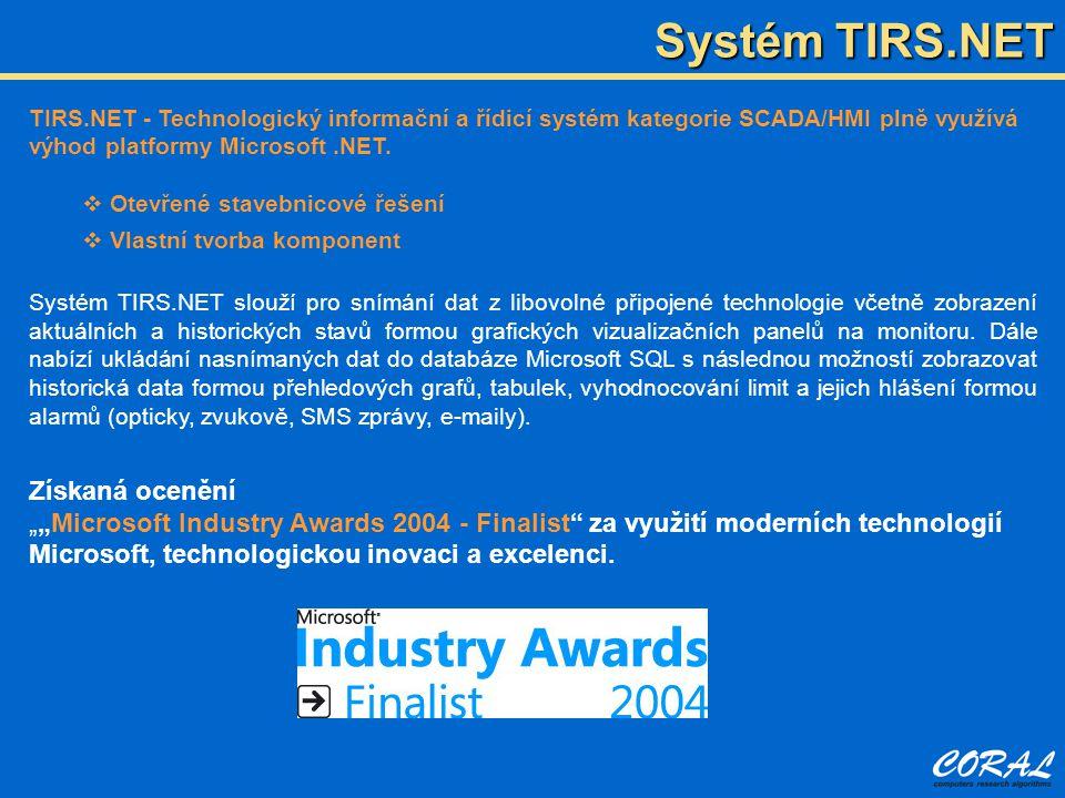 Systém TIRS.NET Získaná ocenění