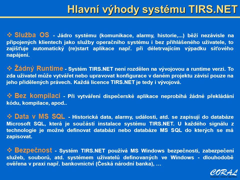 Hlavní výhody systému TIRS.NET