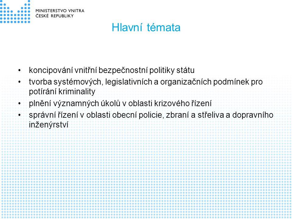 Hlavní témata koncipování vnitřní bezpečnostní politiky státu
