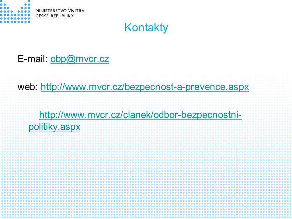 Kontakty E-mail: obp@mvcr.cz
