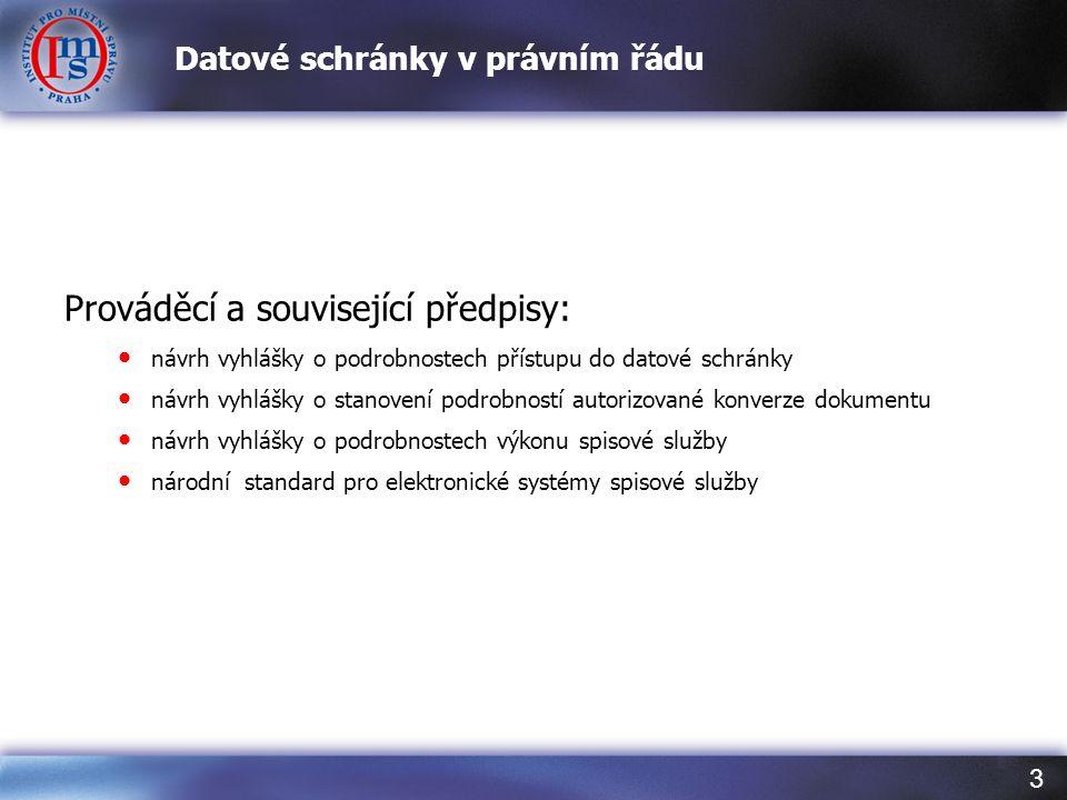 Datové schránky v právním řádu