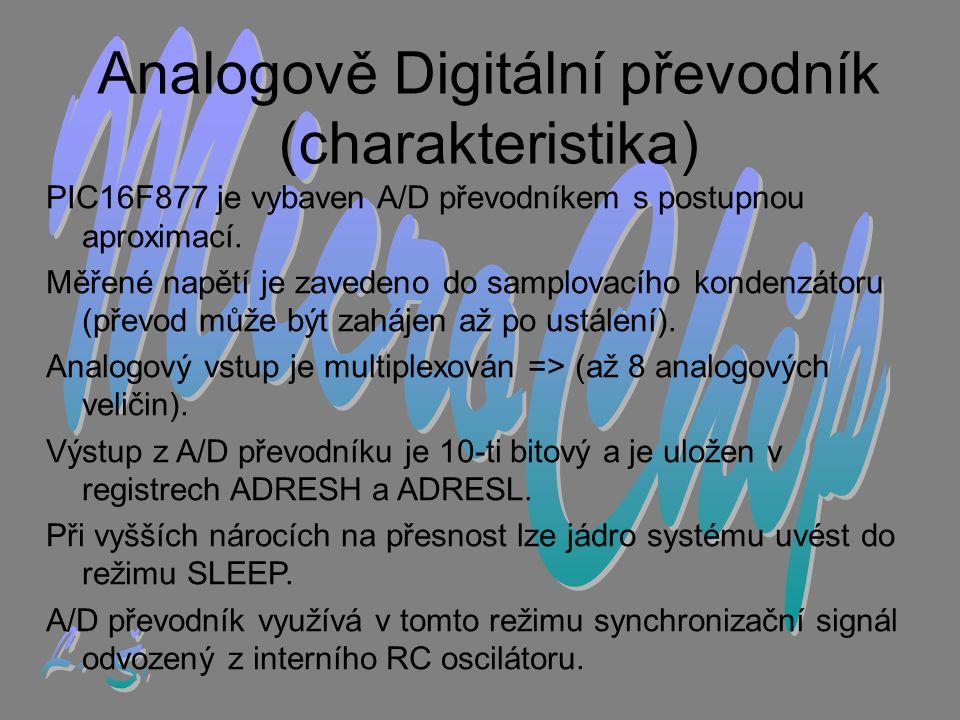 Analogově Digitální převodník (charakteristika)