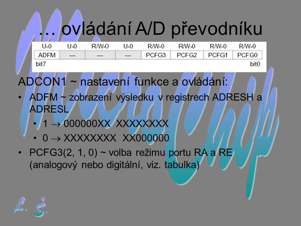 … ovládání A/D převodníku