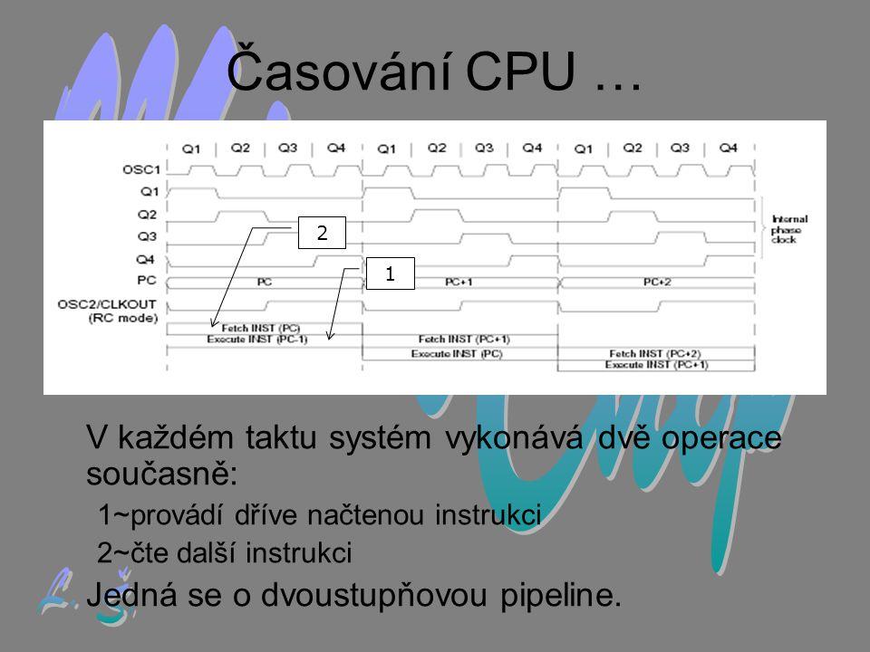 Časování CPU … MicroChip L. Š.