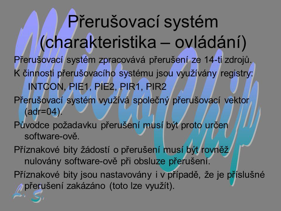 Přerušovací systém (charakteristika – ovládání)