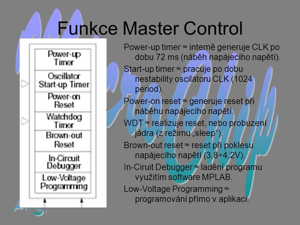 Funkce Master Control MicroChip L. Š.