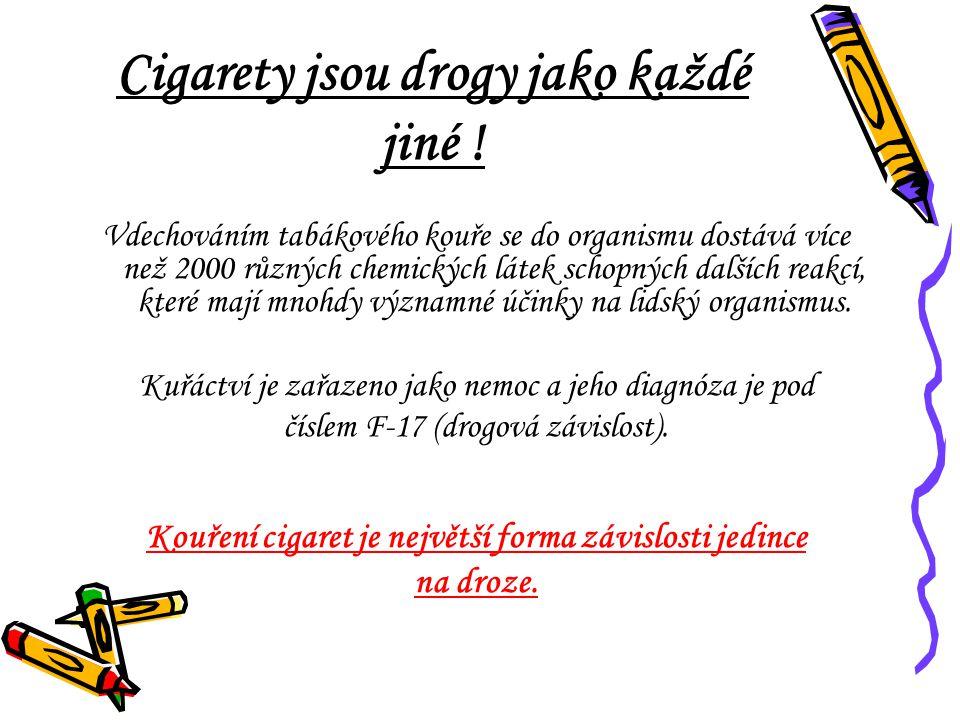 Cigarety jsou drogy jako každé jiné !