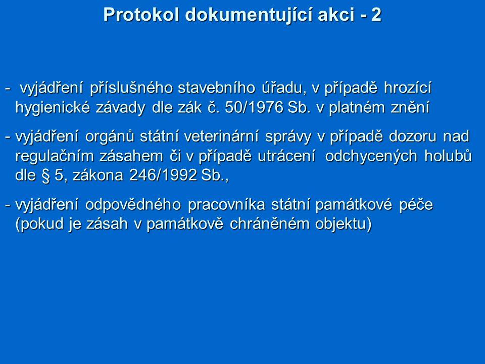 Protokol dokumentující akci - 2