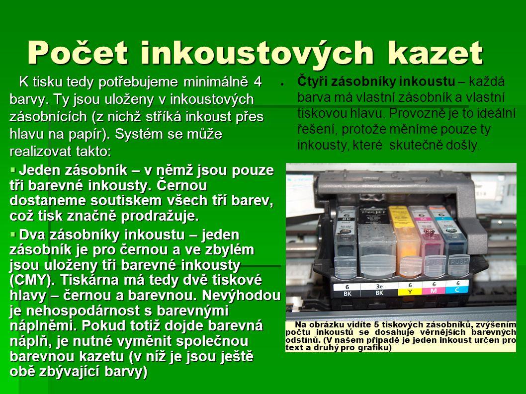 Počet inkoustových kazet