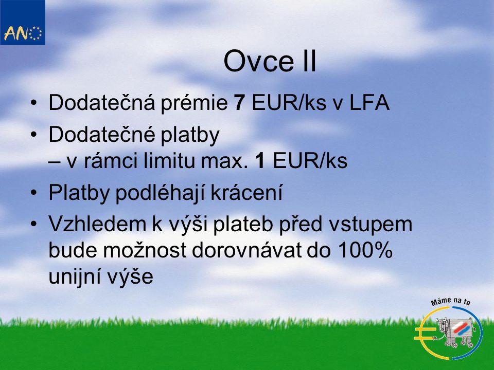 Ovce II Dodatečná prémie 7 EUR/ks v LFA