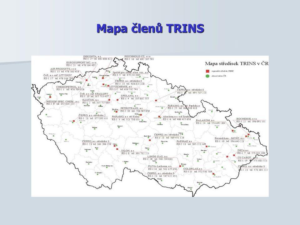 Mapa členů TRINS