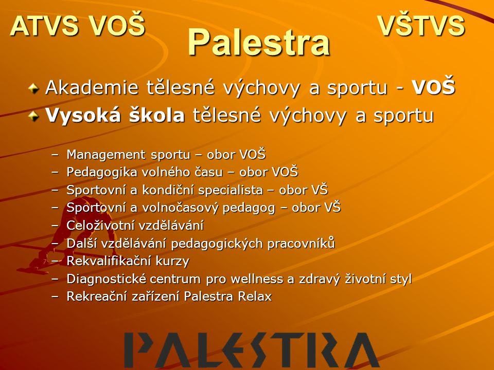 Palestra ATVS VOŠ VŠTVS Akademie tělesné výchovy a sportu - VOŠ