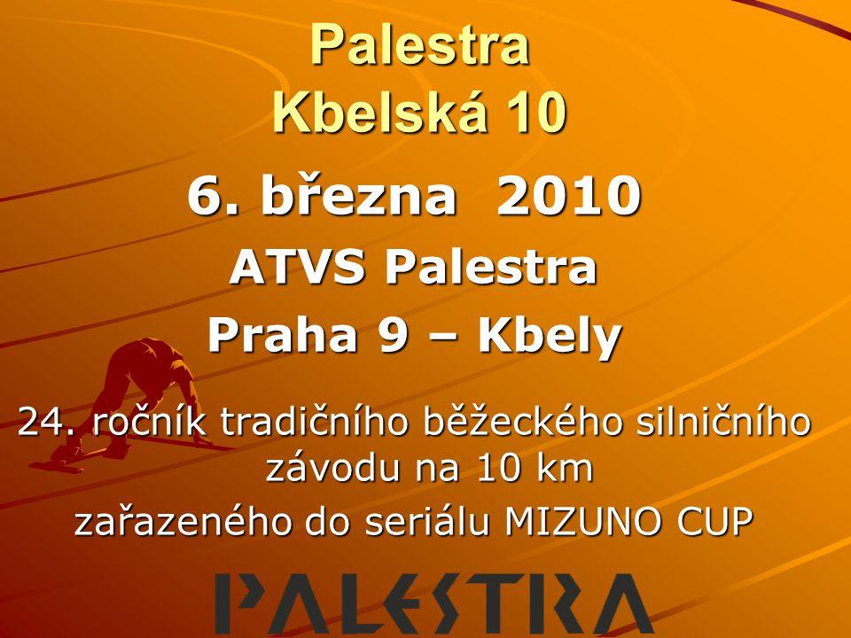 Palestra Kbelská 10 6. března 2010 ATVS Palestra Praha 9 – Kbely
