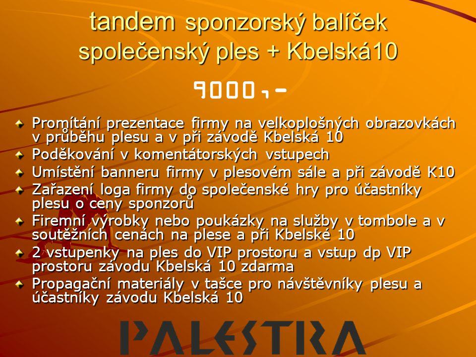 tandem sponzorský balíček společenský ples + Kbelská10