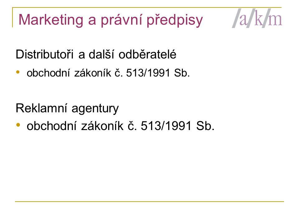 Marketing a právní předpisy