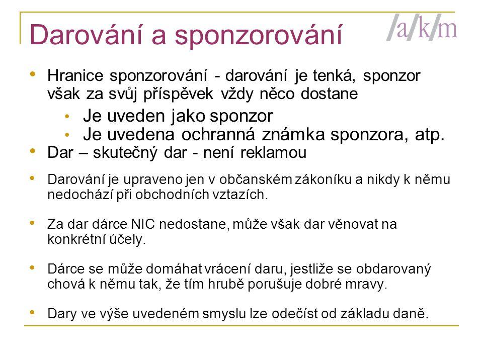 Darování a sponzorování