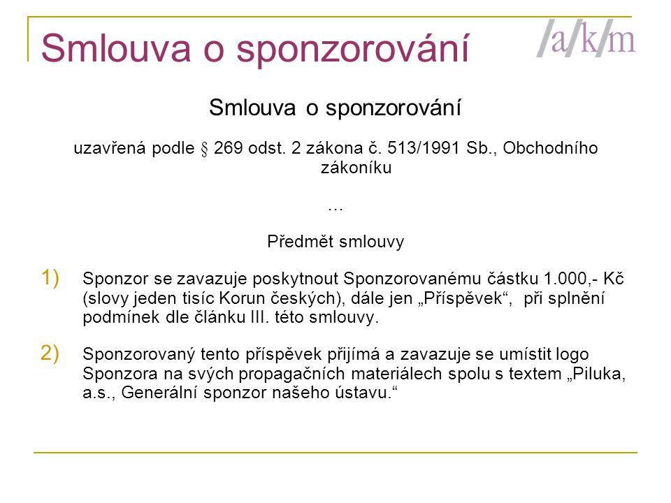 Smlouva o sponzorování